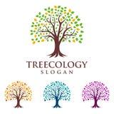 Trädlogo, logodesign Arkivbild