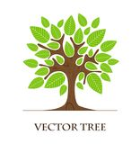 Trädlogodesign vektor illustrationer