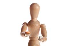 trädocka- eller skyltdockaman från den Ikea gestaltaen royaltyfria foton