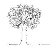Trädsvart på vit Royaltyfri Bild