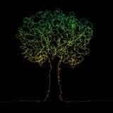 Trädsvart på vit Arkivbild