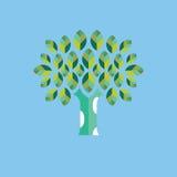 Trädsymbolsvektor Arkivbilder