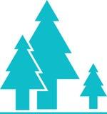Trädsymbolsvektor Arkivbild