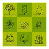 Trädteckning stock illustrationer