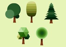Träduppsättning Arkivbild