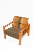 träfärgrik upholstery för fåtölj Arkivbilder