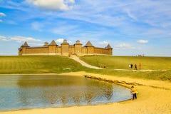 Träfästning för skydd mot Pechenegs, Zadonsk, Ryssland Arkivbild