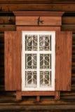 Träfönster 1 arkivfoton