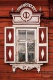 Träfönster 3 arkivfoto