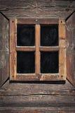 Träfönsterram Arkivbild