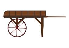 Träförsäljarevagn vektor illustrationer