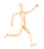Träfalsk isolerad sprinterspring Royaltyfria Bilder