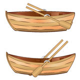 Träfartyg royaltyfri illustrationer