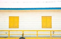 träfartygfönster Fotografering för Bildbyråer