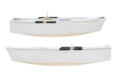 Träfiskebåt som isoleras på vit bakgrund Royaltyfria Foton
