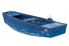 Träfiskebåt som isoleras på vit bakgrund Royaltyfria Bilder