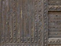träforntida dörr Royaltyfri Foto