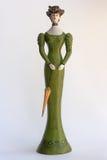 träfransk statuette royaltyfri fotografi