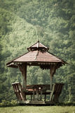 trägammal paviljong Royaltyfri Fotografi