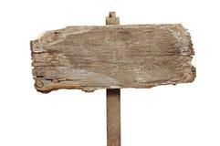 trägammal signpost royaltyfri foto
