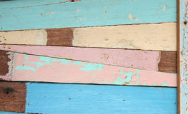 trägammala plankor Arkivfoto