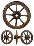 trägammalt hjul Arkivfoto
