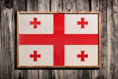 TräGeorgia flagga Royaltyfria Foton