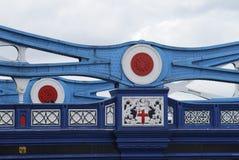 Trägerdetail über Kontrollturm-Brücke. London. Großbritannien stockfotografie