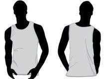 Trägershirt oder sleeveless Hemd Lizenzfreies Stockbild