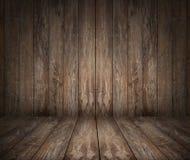 Trägolv och vägg Arkivbilder