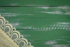 Trägrön bakgrund för abstrakt tappning Arkivbild