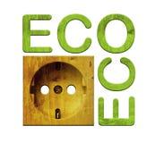 trägrön stickkontakt för energi Stock Illustrationer