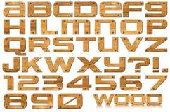 TräGrunge märker och numrerar stock illustrationer