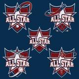 trägt All-Star- Kämme zur Schau Lizenzfreie Stockfotografie