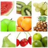 Trägt Collage Früchte Stockbild