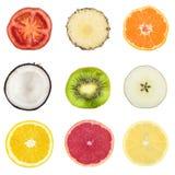 Trägt Collage Früchte Lizenzfreie Stockbilder