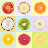Trägt Collage Früchte Lizenzfreie Stockfotos