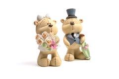 Trägt die Hochzeitskleidung Stockfotografie