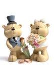 Trägt die Hochzeitskleidung nahe bei Eheringen Stockfotos