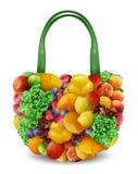 Trägt Einkaufstasche Früchte Stockfotos
