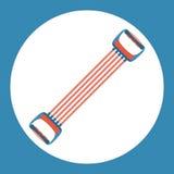 Trägt Expanderikone zur Schau Farbe trägt Expander auf einem blauen Hintergrund zur Schau Ein Ski Auch im corel abgehobenen Betra Stockbilder
