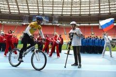 Trägt Festival am Stadion ` Luzhniki-` zur Schau Stockfoto