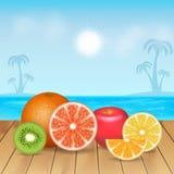 Trägt Hintergrund Früchte Lizenzfreies Stockfoto