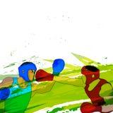 Trägt Hintergrund mit Boxern zur Schau Stockbilder