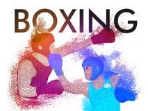 Trägt Hintergrund mit Boxern zur Schau Lizenzfreie Stockbilder