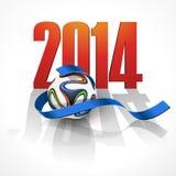 Trägt Hintergrund mit einem Fußball zur Schau Lizenzfreie Stockfotos