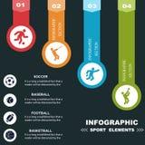 Trägt infographics Fahnen zur Schau Stockfotos