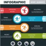 Trägt infographics Fahnen zur Schau Lizenzfreie Stockfotos