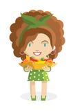 Trägt Mädchen Früchte stock abbildung