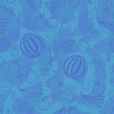 Trägt nahtloses Muster Früchte Lizenzfreies Stockfoto
